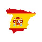 Map classic icon of Spanish culture Royalty Free Stock Images