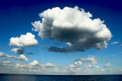 A map of clouds Royalty Free Stock Photo