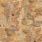 Map Collage Royalty Free Stock Images