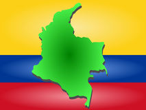 Map of Colombia Stock Photography