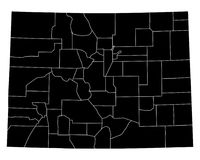 Map of Colorado Royalty Free Stock Images