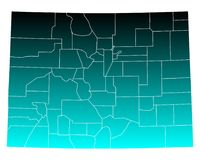 Map of Colorado Stock Photography