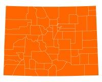 Map of Colorado Royalty Free Stock Photos
