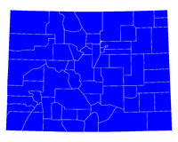 Map of Colorado Stock Photo