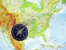 Travel Destination United States Map Compass Stock Photos ...
