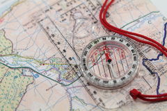 Map & Compass Stock Photography