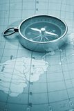 Map with a compass Royalty Free Stock Photo