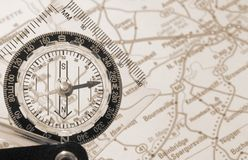 Map and Compass Stock Images