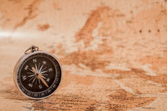 Map with Compass Royalty Free Stock Photos