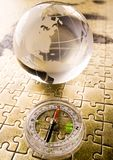 Map & Compass Royalty Free Stock Images