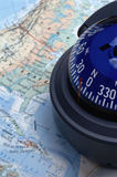 Map & compass royalty free stock photo