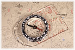 Map compass Royalty Free Stock Images
