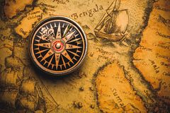 Map. Compass Old Cartography Travel World  Direction Royalty Free Stock Image