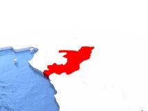 Map of Congo on globe Royalty Free Stock Photo