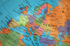 Map of europe. Map of continental Europe, travel concept Stock Photo