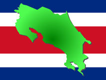 Map of Costa Rica Stock Images