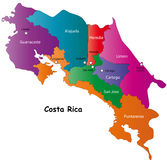 Map of Costa Rica Stock Photos