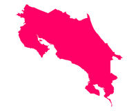 Map of Costa Rica Royalty Free Stock Image