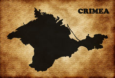 Map of Crimea Royalty Free Stock Images