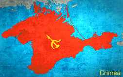 The map of Crimea with the Russian expansion. And occupation Royalty Free Stock Image