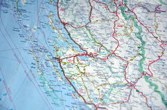 Map of Croatia Stock Images