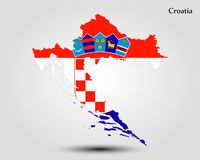 Map of Croatia Royalty Free Stock Photography