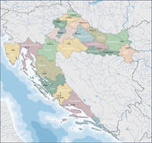 Map of Croatia Stock Image
