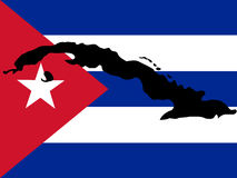 Map of Cuba Royalty Free Stock Photography