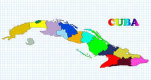 Map of Cuba. Against the background of the cell Royalty Free Stock Photos