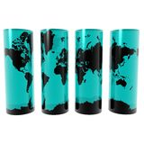 Map on Cylinders Royalty Free Stock Images