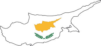 Map Cyprus-Vector Royalty Free Stock Images