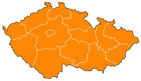 Map of Czech Republic Royalty Free Stock Photo