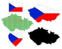 Map of the Czech Republic Royalty Free Stock Image