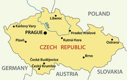 Map - Czech Republic - vector Stock Image
