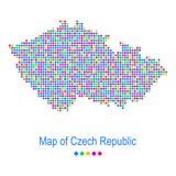 Map of czech republic vector dot pattern Stock Photos