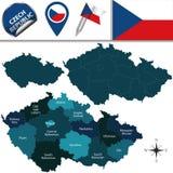 Map of Czech Republic Stock Image