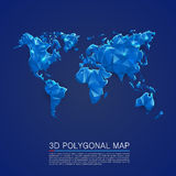 Map 3d polygon art cover Royalty Free Stock Photography