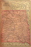 Map of the Dakotas Stock Photos