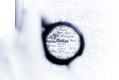 Map of Dallas Stock Photo