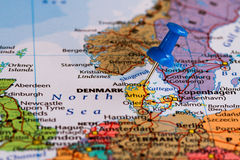 Map of Denmark Stock Photos