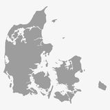 Map of Denmark in gray on a white background. Map  of Denmark in gray on a white background Stock Image