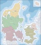 Map of Denmark Stock Photos