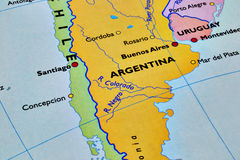 Argentina. Destination map of argentina Royalty Free Stock Images
