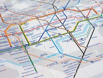 Map detail with selective focus Royalty Free Stock Photos