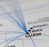Fly to Guam Map details. Map details with highlights GUAM Stock Photos