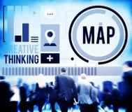 Map Direction Destination Location Route Concept Stock Photos