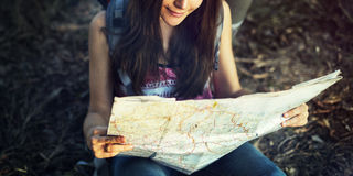 Map Direction Journey Wanderlust Explore Route Concept Royalty Free Stock Images