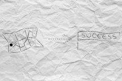 Map with directions to success Stock Photos