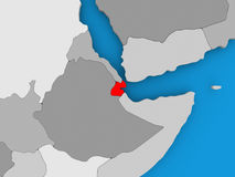 Map of Djibouti Royalty Free Stock Images