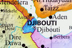 Map of Djibouti. Its capital city is Djibouti royalty free stock photography